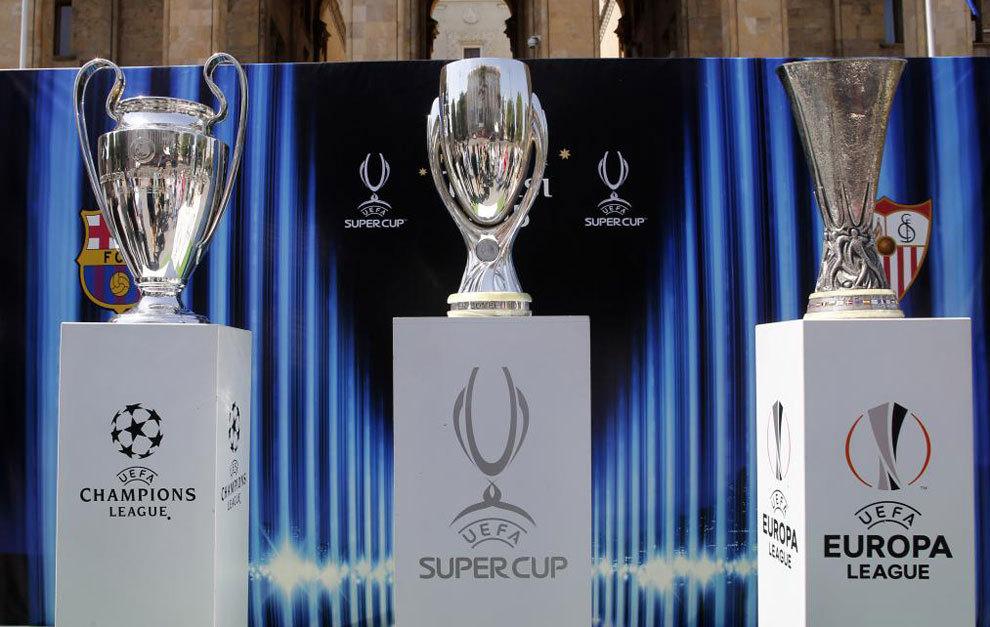 Uefa Champions League Europa League Super Cup Trophies